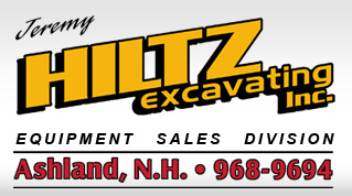 Jeremy Hiltz Excavating Inc. / Equipment Sales Division / Ashland, N.H. 968-9694